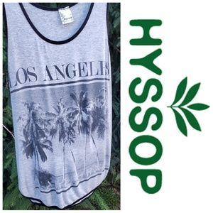 Hyssop Los Angeles Graphic Tank Top Medium